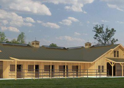 Fieldstone 20-Stall Center Aisle